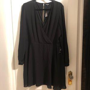 NWT Black Express Surplice Style Dress 🖤
